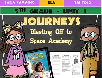 Journeys Grade 5 Trifold (Ultimate Field Trip 5: Blasting Off to Space Academy)