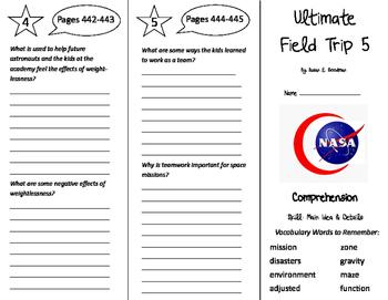 Ultimate Field Trip 5 Trifold - California Treasures 5th Grade Unit 4 Week 2