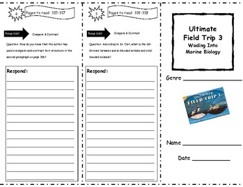 Ultimate Field Trip Storytown Comprehension Trifold