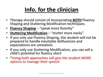 Ultimate Fluency/Stuttering Packet!