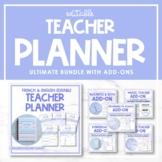 Ultimate French & English Editable Teacher Planner Bundle