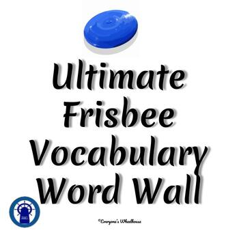 Ultimate Frisbee Vocabulary Word Wall