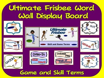 Ultimate Frisbee Word Wall Display: Skill, Graphics & Game Terms