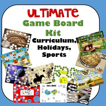 Ultimate Game Board Kit for Curriculum, Holidays, and Sports