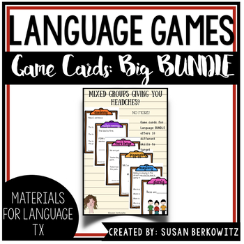 Ultimate Game or Task Card Bundle for Language Development Speech Therapy