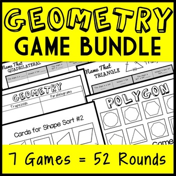 Ultimate Geometry Game Bundle: Triangles, Quadrilaterals, Polygons! 40 Total!