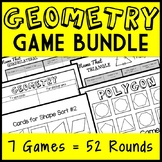 Ultimate Geometry Game Bundle: 2-D Shapes and Coordinate Plane! 40 + Games!