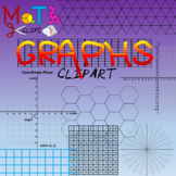 Ultimate Graphs, Grids and Coordinate Planes Clipart