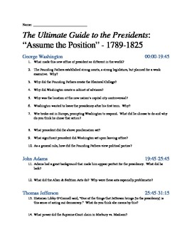 Ultimate Guide to the Presidents - Ep 1: Assume the Position