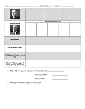 Ultimate Guide to the Presidents - Video Graphic Organizer Episode 5