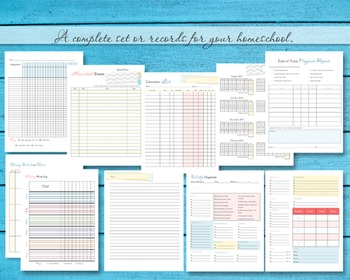 Ultimate Homeschool Lesson Planner and Organization 14o+ Pgs