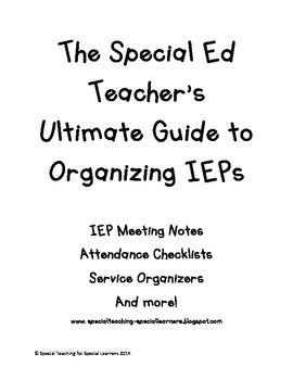 Ultimate IEP Organizer