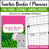 Jungle Teacher Binder