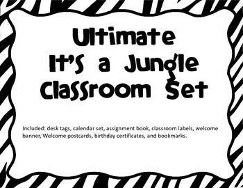 Ultimate Jungle/Safari Classroom Set