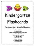 Ultimate Kindergarten Flashcards! Letters/Sight Words/Numbers