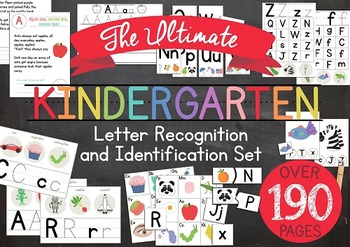 Ultimate Kindergarten Letter Recognition and Identification Set