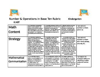 Ultimate Kindergarten Math Rubrics