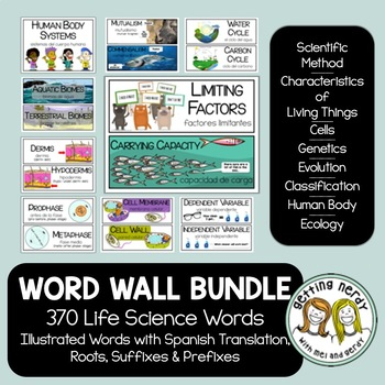 Life Science Word Wall Bundle
