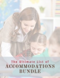 Ultimate List of Accommodations Bundle