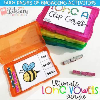 Ultimate Long Vowels Bundle {Engaging phonics games and activities}