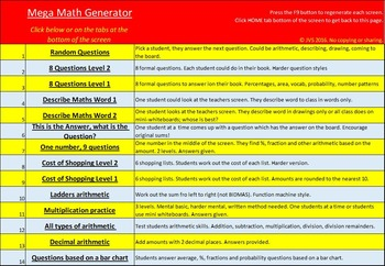 Ultimate Math Activity Generator - Math, Literacy and Fun 1000s of Activities