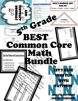 5th Grade Common Core Math Bundle