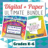 Ultimate Math Bundle, Grades 3-5: Digital + Paper: Google