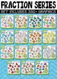 Ultimate Math Circle Fractions Series Clipart Set – Over 3