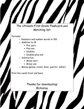 Ultimate Math Flashcard and Matching Set