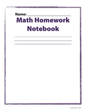 Ultimate Math Homework Notebook