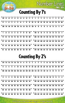 Ultimate Math Number Line Clipart {Zip-A-Dee-Doo-Dah Designs}