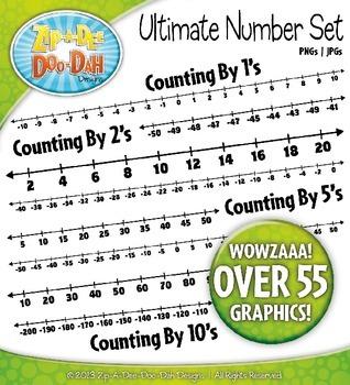 Ultimate Math Number Line Clipart {Zip-A-Dee-Doo-Dah Designs}