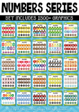 Ultimate Math Numbers / Counting Series Clipart Set – Over