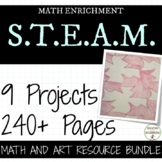 PreAlgebra and middle school math Project ULTIMATE Bundle for STEAM