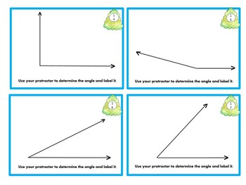 Ultimate - Measuring Angles Using a Protractor Task Cards - 3 difficulties