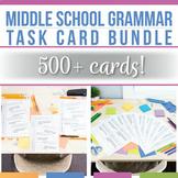 Distance Learning Digital Task Card Bundle Grammar Task Cards for Middle School