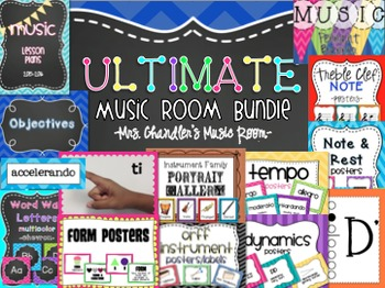 Ultimate Music Room Bundle - Posters, Fingering Charts etc.