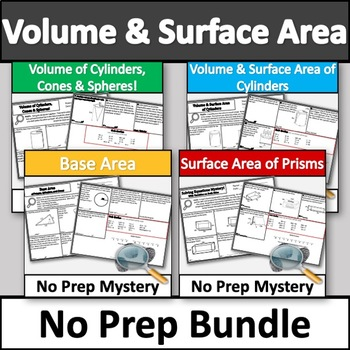 Ultimate, No Prep Volume and Surface Area Activity Bundle! No Prep Mysteries!