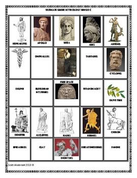Ultimate Odyssey Greek Mythology Bingo Game
