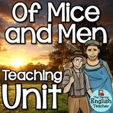 Of Mice and Men Novel Study: Character Analysis, Quizzes, Vocabulary, Bundle