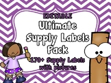 EDITABLE Ultimate Pack of Supply Labels With Pictures (170