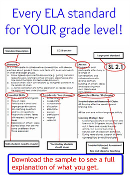 Ultimate Package - CCSS ELA Standards and Guiding Questions Handbook - 5th Grade