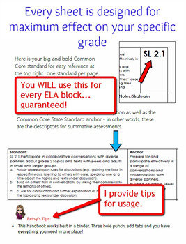 Ultimate Package - CCSS ELA Standards and Guiding Questions Handbook - 7th Grade