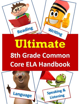 Ultimate Package - CCSS ELA Standards and Guiding Questions Handbook - 8th Grade