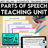 Parts of Speech Unit Bundle: PowerPoints, Assignments, Ass