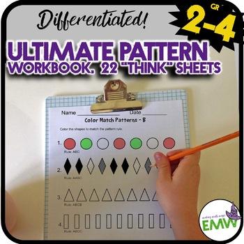 Ultimate Patterns Workbook for 1-3rd grade - over 20 worksheets!