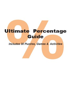 Percentage Guide with 30 Printable Activities