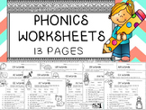 Phonics Worksheets Bundle