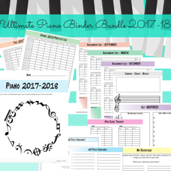 Ultimate Piano Binder Bundle 2017-18