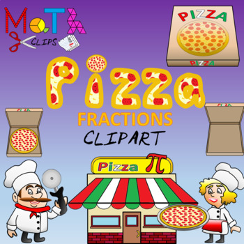Ultimate Pizza Fractions Clip Art